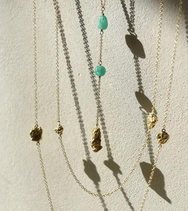 Multi Nuggets Necklace