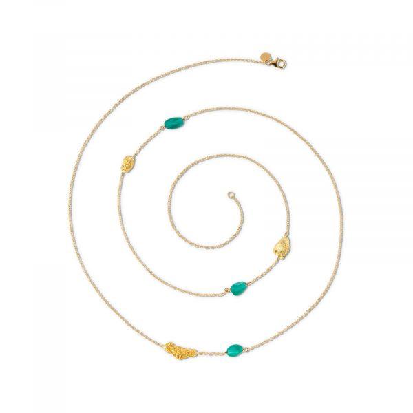 Ottavia Multi Nugget Necklace with Emeralds